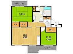 UR中山五月台住宅[5-406号室]の間取り