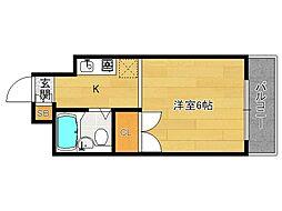 分譲パラドール円町[205号室]の間取り
