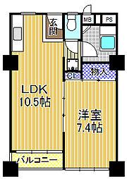千鳥橋団地1号棟[2階]の間取り