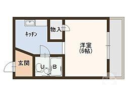 OTYマンション[3階]の間取り