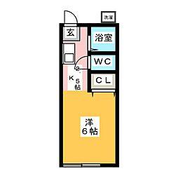 セレブラール B棟[1階]の間取り