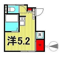 東京都台東区谷中5丁目の賃貸アパートの間取り