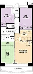 URアーバンラフレ小幡6号棟[3階]の間取り