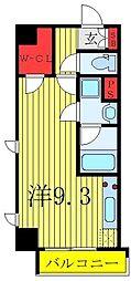 LEXE東京NorthII 2階ワンルームの間取り