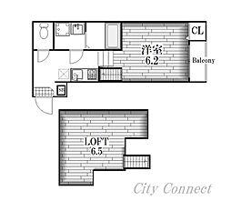 アップルハイム[2階]の間取り