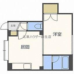 北海道札幌市北区北三十条西3丁目の賃貸アパートの間取り