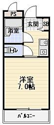 カーサ西郷[3階]の間取り