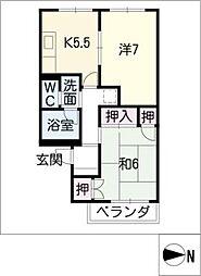 TDマンションPaulownia[3階]の間取り