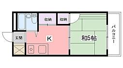 兵庫県尼崎市元浜町1丁目の賃貸マンションの間取り