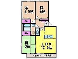 愛媛県松山市東垣生町の賃貸マンションの間取り