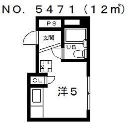コスタ文の里[5階]の間取り