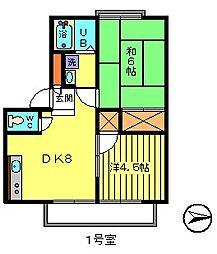 アーバンよごじ[2階]の間取り
