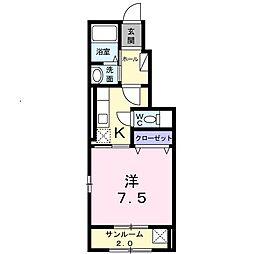 ラ シュマンYakushido[0106号室]の間取り