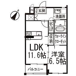 メリッサ 1階[103号室]の間取り