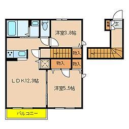 千葉県船橋市二和東5丁目の賃貸アパートの間取り