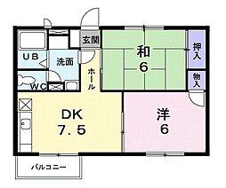 パークサイドコート[1階]の間取り