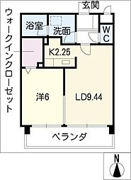 La FELMO 菊坂[9階]の間取り