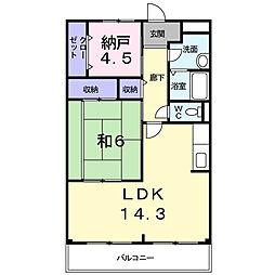 サンパティ−ク・メゾン[3階]の間取り