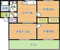 コニファー二島[1階]の間取り