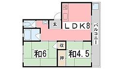 TウエストマンションB棟[301号室]の間取り