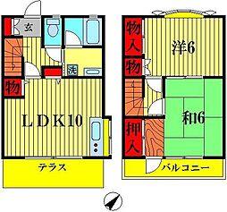 [テラスハウス] 千葉県松戸市河原塚 の賃貸【/】の間取り