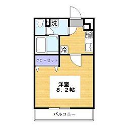 リブリ・とんぼ[2階]の間取り