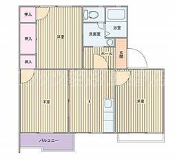 タウニィ優生[2階]の間取り
