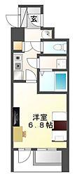 カルムインエクシード江坂[9階]の間取り