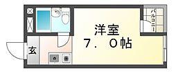 プリエールJR塚口駅前[3階]の間取り