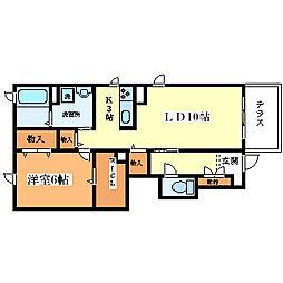 シャーメゾン西村邸[101号室]の間取り