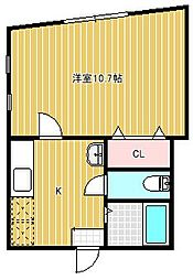 HILLS TOYANO[206号室]の間取り