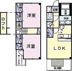 リュール西津田2[106号室]の間取り