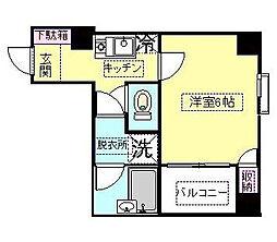 神奈川県川崎市幸区幸町2丁目の賃貸マンションの間取り