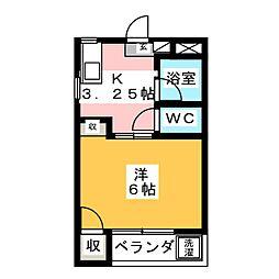 ビューハイツNO2 A[3階]の間取り