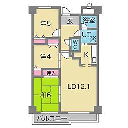 リヴェール緑地[2階]の間取り