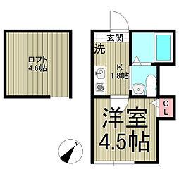 ベイルーム鎌倉山崎[102号室]の間取り