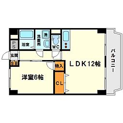 西中島東行マンション[6階]の間取り