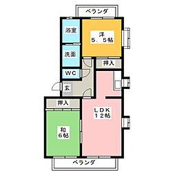 パークハウス喜惣治[3階]の間取り