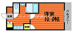JR山陽本線 新倉敷駅 徒歩6分の賃貸マンション 7階1Kの間取り