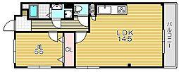 双葉マンション[302号室]の間取り