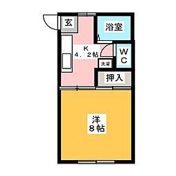 第二小田原コーポ[1階]の間取り