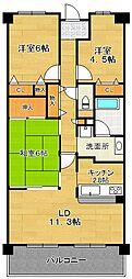 イトーピア茨木[5階]の間取り
