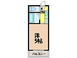 愛媛県松山市小栗3丁目の賃貸マンションの間取り