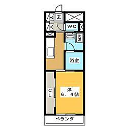 グランドゥール千種[2階]の間取り