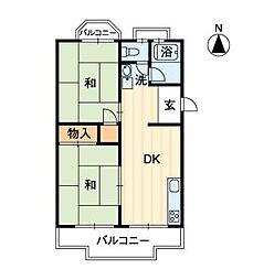 居石マンション[205号室]の間取り