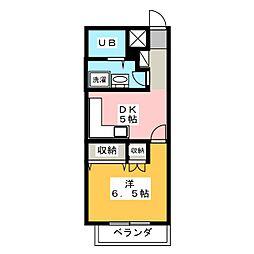 コーポ明花[2階]の間取り