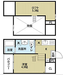 sofitel西田町 (ソフィテルニシダチョウ)[2階]の間取り