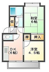 パナハイツ福永B[2階]の間取り