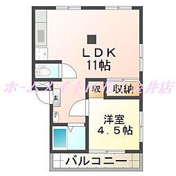 第一長縄ビル[4階]の間取り