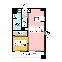 サヴォイセントオブガーデン[9階]の間取り